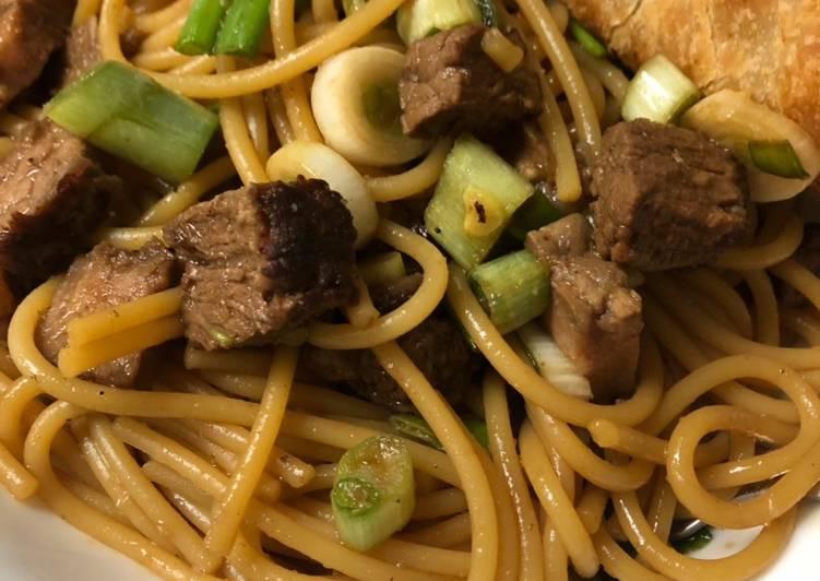 Recipe: Tasty Steak lo mein