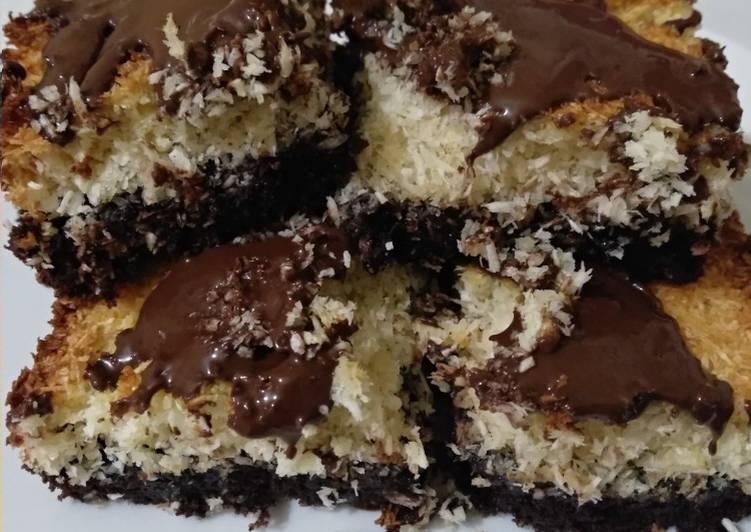 Gooey Chocolate Coconut Brownies
