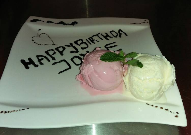Vanilla scoop for birthday