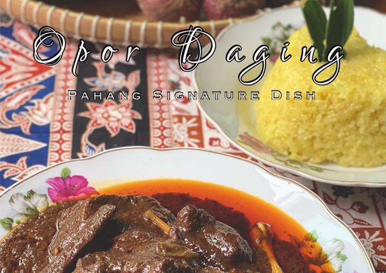 Cara Mudah Masak: Opor Daging Pahang  Enak