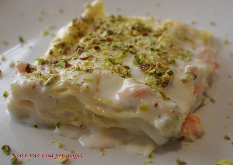 How to Prepare Tasty Lasagne al salmone affumicato, besciamella e pistacchi