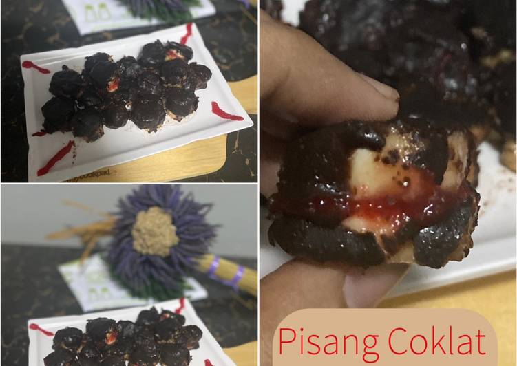 Pisang Coklat isi strawberry