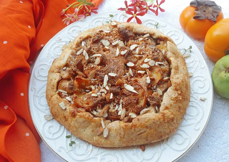 Easiest Way to Prepare Homemade Pear and Persimmon Galette