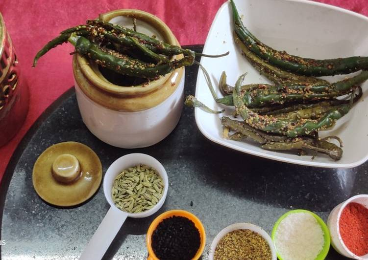 Steps to Prepare Award-winning Instant green chilli pickle