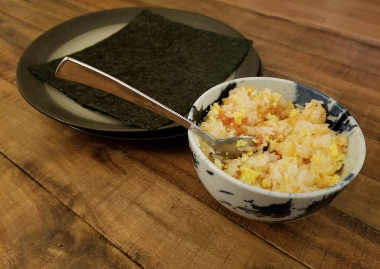 Cod roe and egg rice bowl