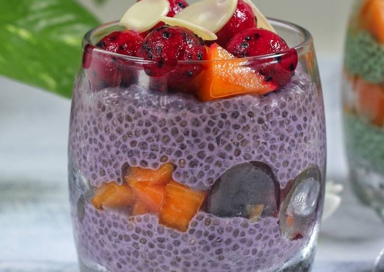 Grape Coconut Chia Pudding