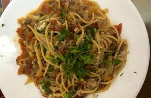 Mì Spaghetti cho bé (Công thức không cần nước sốt Spaghetti)