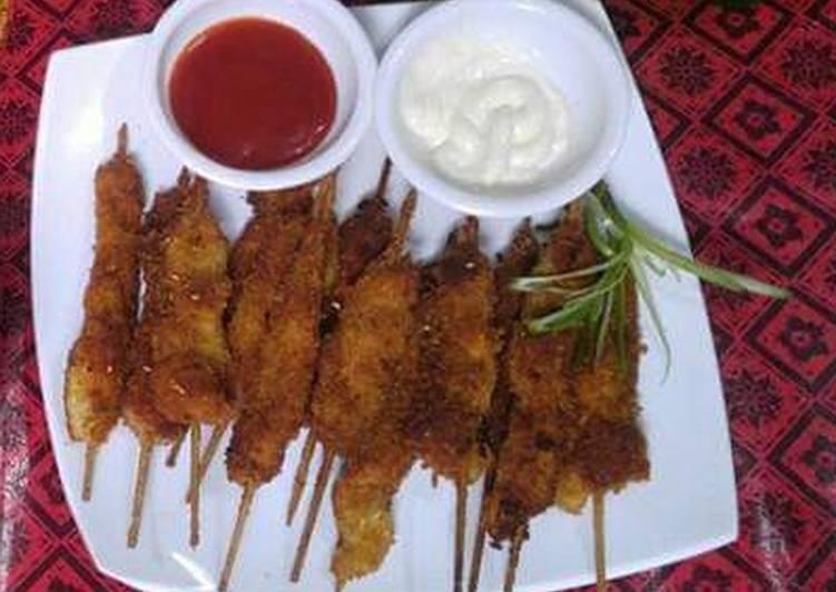 Crispy chicken sticks
