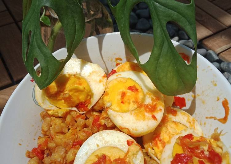 Telur & Tempe Balado Merah Putih
