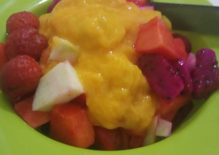 Salad buah saus mangga - cookandrecipe.com