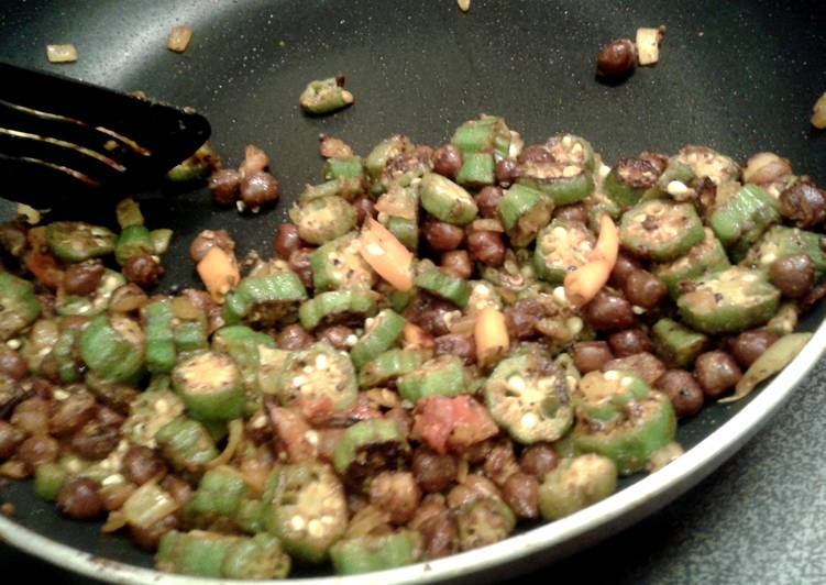 Try Using Food to Elevate Your Mood Quick Ladyfinger chickpea stirfry