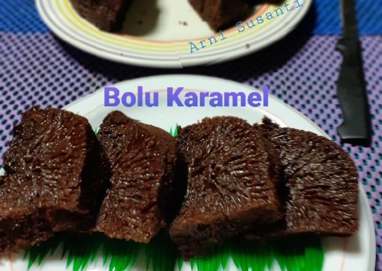cara mengolah Bolu Karamel / Kue Sarang Semut - Sajian Dapur Bunda