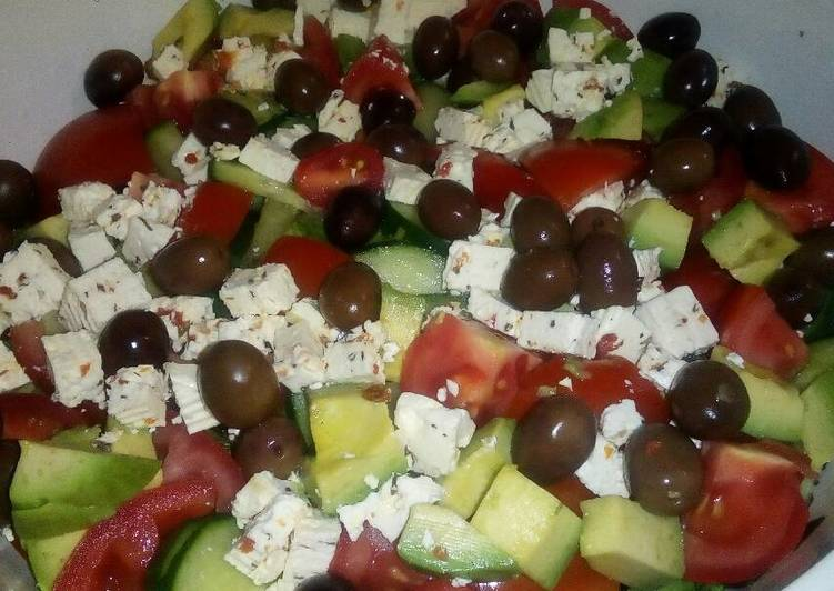 Cucumbers, Avocado and Tomato salad