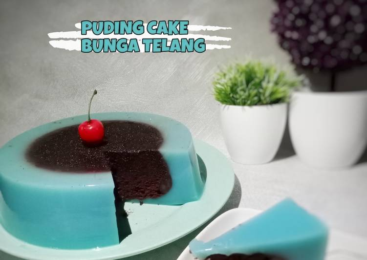 Puding Cake Bunga Telang
