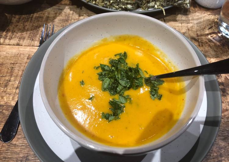 Sweet Potato Soup (vegan- and paleo-friendly). #soupcontest