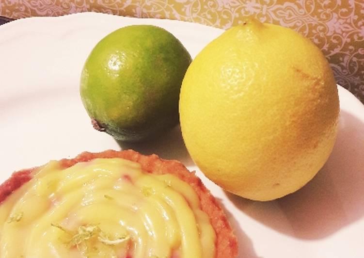 Tartelette lemon curd et airelle