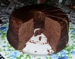 Bizcochuelo casero de chocolate en microondas supefácil!! ?