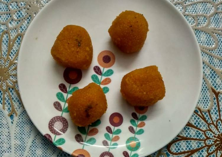 Easy motichoor laddu at home