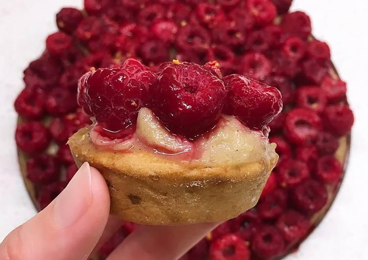 How to Prepare Delicious Tarte aux framboises sur sa crème pâtissière vegan