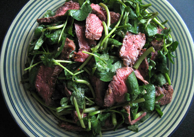 Easiest Way to Make Perfect Beef & Watercress Salad