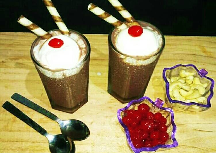 Easiest Way to Make Delicious Cold choco with vanilla ice- cream