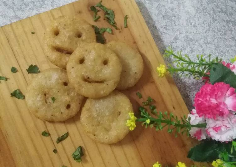 Step-by-Step Guide to Make Homemade Potatoes smiley with tomato soup