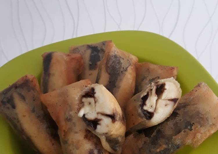 Lumpia Pisang Coklat Simple