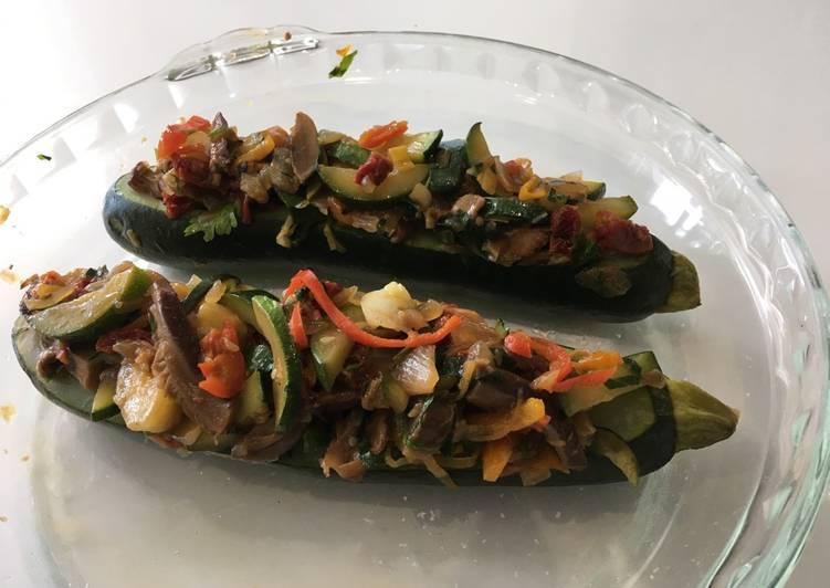 Calabacín Relleno de vegetales