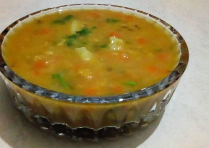 Chana dal vegetable curry