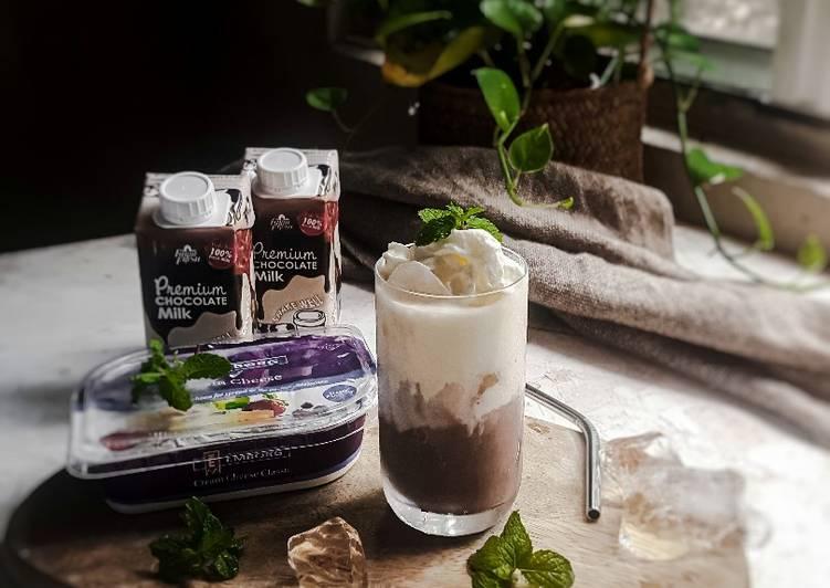 Air coklat cream cheese #iladila
