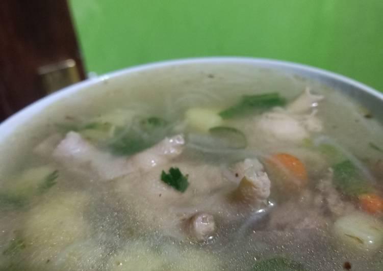 Sup ayam bihun sederhana