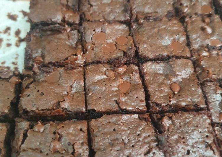 Fudgy Dark Choco Brownies gluten free
