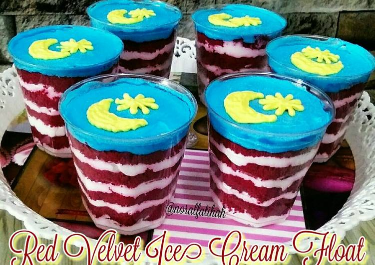 Red Velvet Ice Cream Float - resepipouler.com
