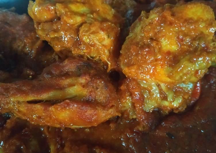 Cara Gampang Membuat Ayam bumbu rujak super pedas, Lezat Sekali