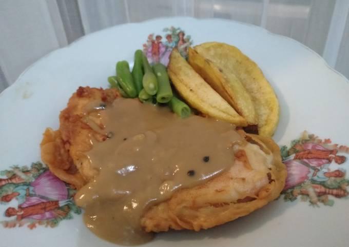 Resep Chicken Steak (Crispy), Lezat Sekali