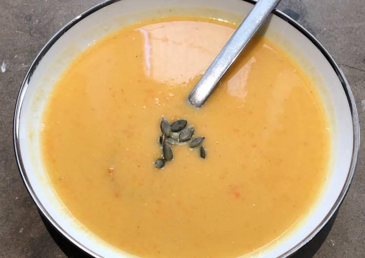 Façon la plus simple Cuisiner Délicieux Soupe lentilles corail, carottes et coco