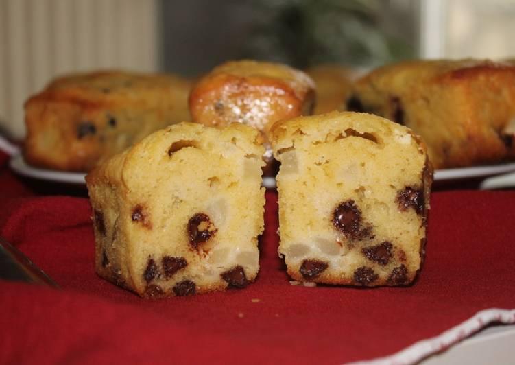 Mini cakes poire et chocolat