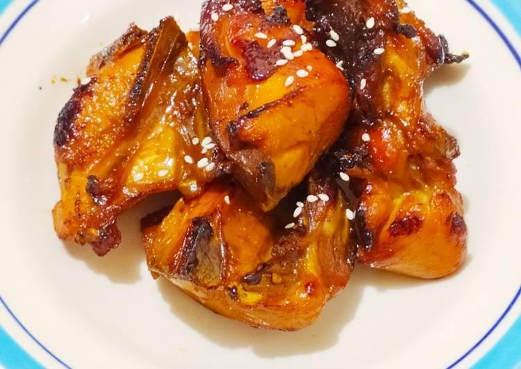 Langkah Mudah untuk Menyiapkan Bacem ayam no ribet, Lezat