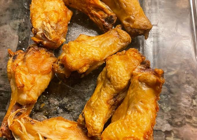 Air-fried chicken wings -- for the food sensitive