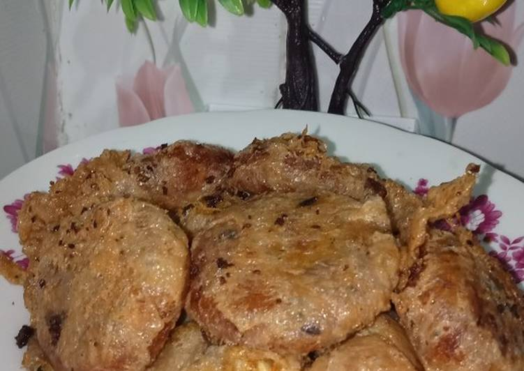 Perkedel kentang dg daging sapi cincang