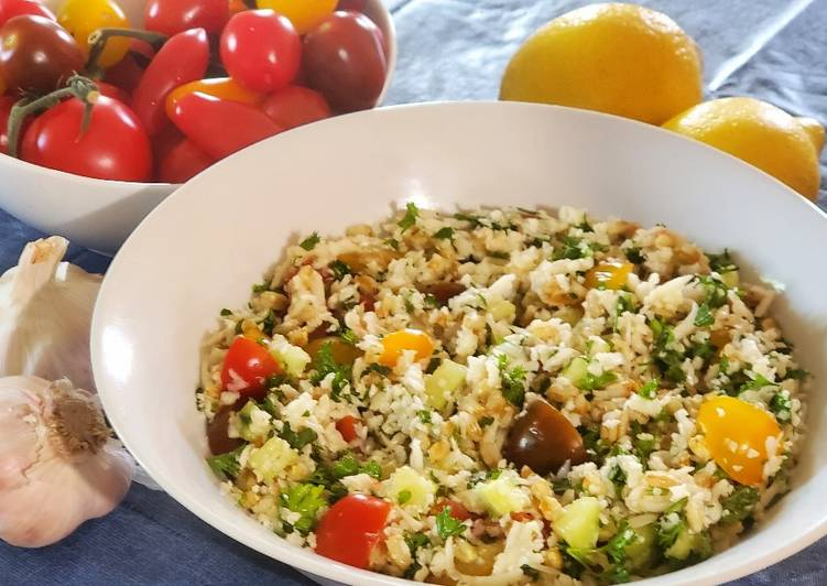 Easiest Way to Prepare Perfect Cauliflower Tabbouleh