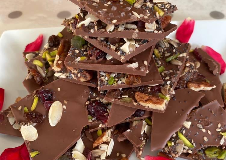 Hippie chocolate bark