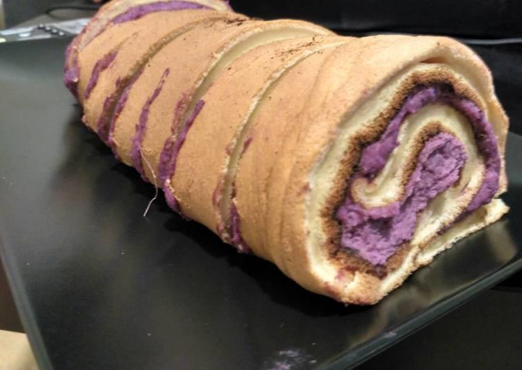 Recipe of Ultimate Purple sweet potato roll cake