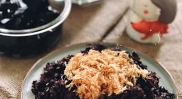 Hình ảnh món Tuần 12: Xôi đỗ đen thơm ngon và đen bóng :D