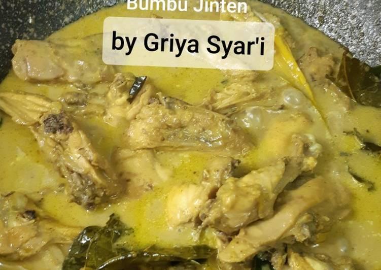 Opor Ayam Kampung Bumbu Jinten