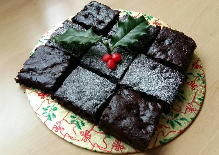 Vickys Christmas Brownies, GF DF EF SF NF