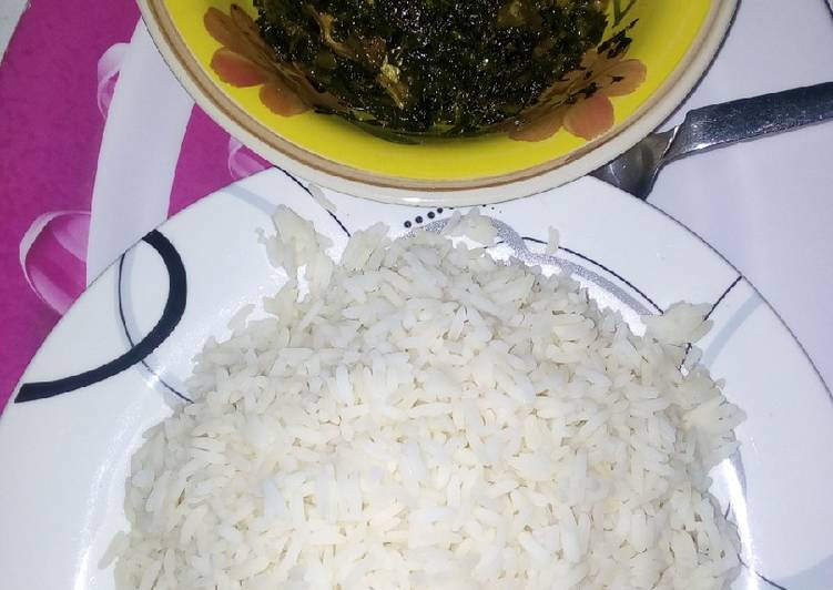 White rice with vegetables soup