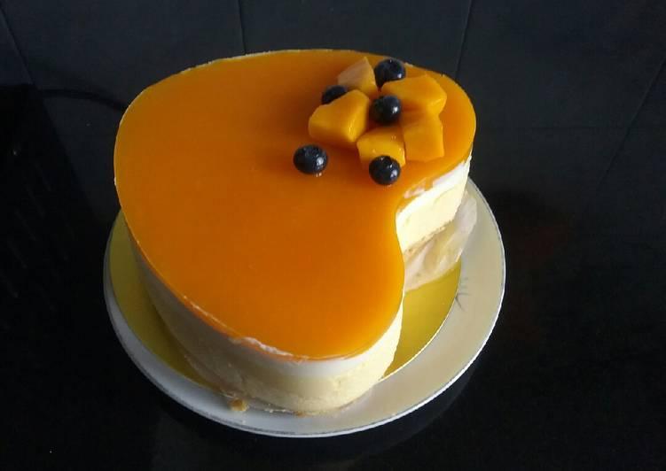 Mangga cheesecake tanpa di panggang