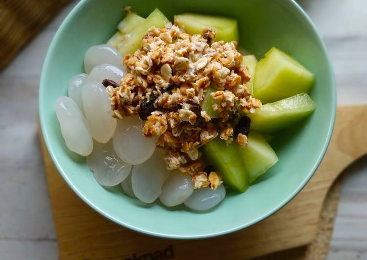 Resep Sarapan sehat 27 (melon kolang kaling) Bikin Laper