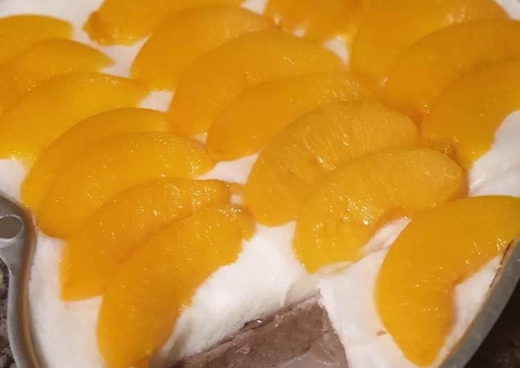 Puding buah putih telur